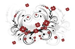 Background with floral ornament. Abstract background with decorative floral ornament Stock Image