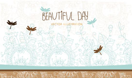 Background with floral ornament Stock Image