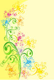 Background with floral ornament, vector Stock Image