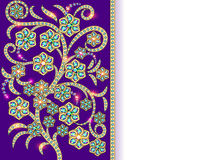 Background with floral ornaments made of precious stones Royalty Free Stock Photography