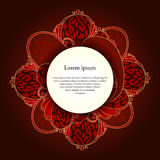Background with floral ornaments. Royalty Free Stock Photos