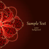 Background with floral ornaments. Stock Photography