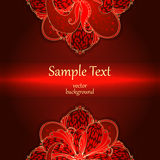 Background with floral ornaments. Stock Photos