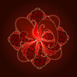 Background with floral ornaments. Royalty Free Stock Image