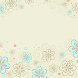Background with floral ornaments Stock Image