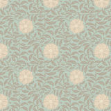 Background Floral Over Aqua Royalty Free Stock Photos