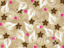 Background with floral pattern Royalty Free Stock Photography