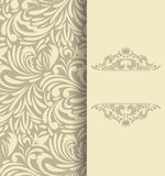 Background with floral pattern Royalty Free Stock Photo