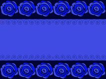 Vector. Blue background with roses. Background with a floral pattern of blue roses vector illustration