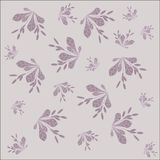 The background floral pattern. Lilac branch of barberry with leaves and berries on a light purple background Stock Photography