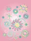 background floral pink Στοκ Εικόνες