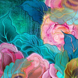 Background floral, roses Stock Photos