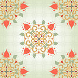Background with floral symmetrical elements Royalty Free Stock Photo