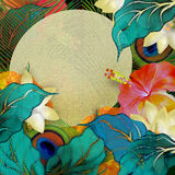 Background floral, tropical summer board Royalty Free Stock Images