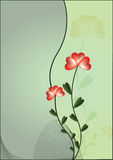 Background with flower royalty free illustration