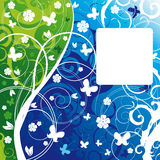 Background with flower vector illustration