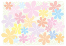 A background of a flower. It is the background of the handwriting-like flower Stock Photos