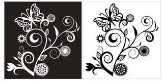 Background flower black white. Background wallpaper flower black white bw illustrations stock illustration
