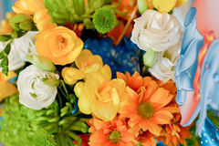 Background with flower bouquet Stock Images