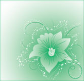Background flower, elements for design, vector Stock Image