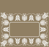 Background flower frame, elements for design, vector. Illustration Stock Image