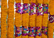 Background of flower garlands Royalty Free Stock Photo
