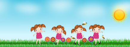 Background flower in the meadow Stock Illustration