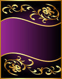 Background with flower pattern from gild. Illustration background with flower pattern from gild vector illustration