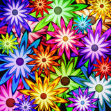 Background of flower power. A background of colorful flowers Royalty Free Stock Photography