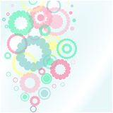 Background with flower shape Royalty Free Stock Photo