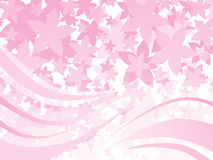 Background with flower, stripes Stock Images
