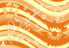 Background flower, vector. Illustration Stock Photos