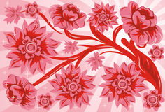 Background flower, vector royalty free illustration