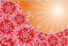 Background flower, vector. Illustration Stock Image
