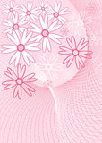 Background flower, vector. Illustration Stock Photography
