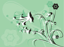 Background flower, vector. Illustration Stock Photo