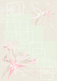 Background flower vintage. Background with a flower pattern and squares in pastel tones Royalty Free Stock Images