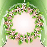 Background with flower wreath Stock Image