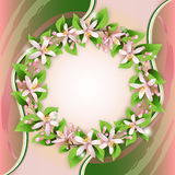 Background with flower wreath Stock Photography