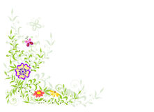 Background with flowers Royalty Free Stock Photography