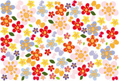 Background with flowers. Bright, festive background with butterflies and flowers Royalty Free Stock Photos