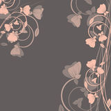 Background with flowers . Royalty Free Stock Photography
