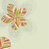 Background with flowers . Vector illustration Stock Photo