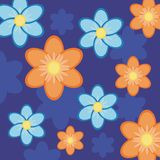 Background with flowers. On blue Stock Image