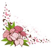 Background with  flowers. Stock Photo