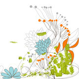 Background with flowers. Universal template for greeting card, web page, background Royalty Free Stock Photos