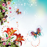 Background with flowers Royalty Free Stock Image