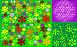 Background of  flowers. Abstract background of  flowers (illustration Royalty Free Stock Photography