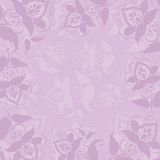 Background with flowers. Abstract background, symbolical outline flowers on a lilac background Royalty Free Stock Photo