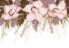 Background with flowers. Abstract colorful background with flowers vector illustration